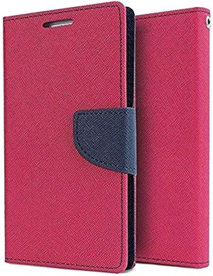 INCLU Flip Cover for Mi Redmi 6(pink color, Cases with Holder)