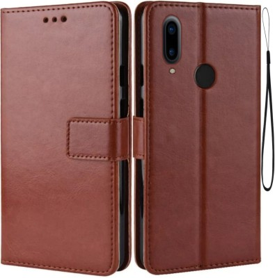 iPaky Flip Cover for Vivo V11 Pro, vivo 1804(Brown, Maroon, Cases with Holder)