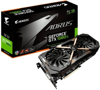Gigabyte NVIDIA AORUS GeForce GTX 1080 Ti 11GB GDDR5X PCI-E Graphics Card 11 GB GDDR5 Graphics Card