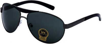 Silver Kartz Oval Sunglasses(Black)