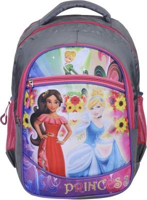 Naaz Digital Printed 15 Inches Polyester Light Weight School Bag (Pink) Waterproof School Bag(Pink, 15 inch)