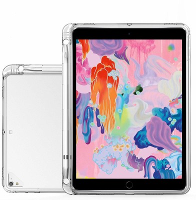 Realtech Back Cover for Apple ipad Mini 5 (2019) 7.9 Inch(Transparent, Cases with Holder, Silicon)