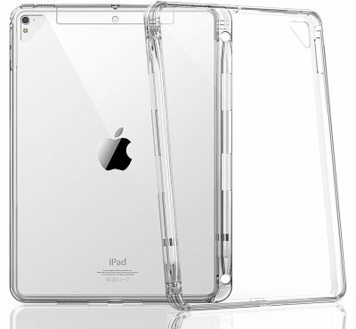 Realtech Back Cover for Apple ipad Air 2(Transparent, Cases with Holder, Silicon)