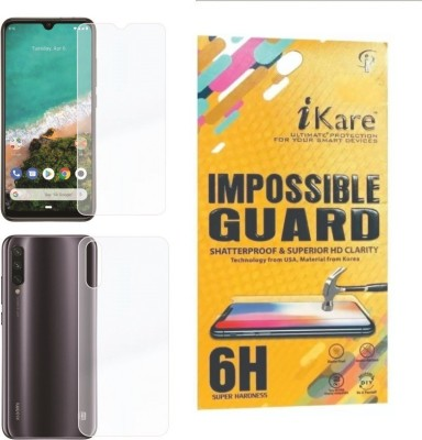iKare Front and Back Screen Guard for Xiaomi Mi A3(Pack of 2)
