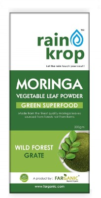 FARGANIC Rainkrop Organic Moringa Leaf Powder for weight loss(200 g)