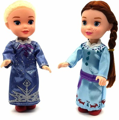 TEMSON Snow Sister Doll Pack of 2(Multicolor)