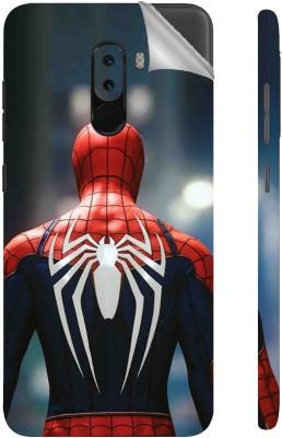 Snooky 1402L-SknRdmiPcophF1 Spiderman Back POCO F1 Mobile Skin(Multicolor)