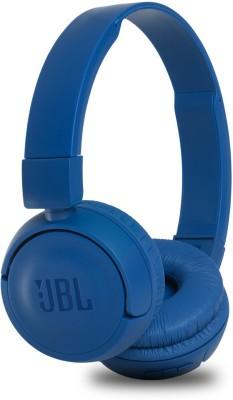 JBL T450BT Extra Bass Bluetooth Headset(Blue, Wireless over the head)