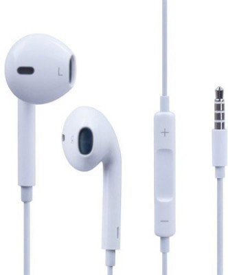 Brown Bee W13 Original High Bass Certified Quality Earphone Wired Headset(White, In the Ear)