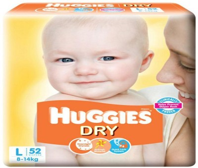 Huggies BABY DRY TAPE DIAPERS, SIZE LARGE   L