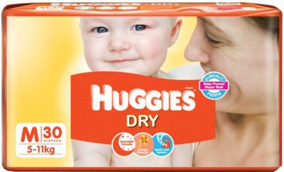 Huggies BABY DRY TAPE DIAPERS, SIZE MEDIUM, 30 PCs. PACK   M 30 Pieces Huggies Baby Diapers
