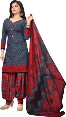 Saara Crepe Printed Salwar Suit Material(Unstitched)