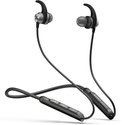 Boult Audio Probass Spire Neckband Wireless Bluetooth Headset with Mic(Black, Silver, In the Ear)