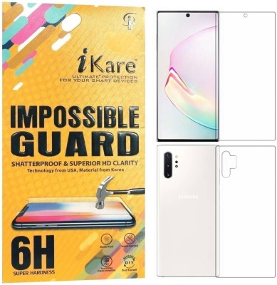 iKare Front and Back Screen Guard for Samsung Galaxy Note 10 Plus(Pack of 2)
