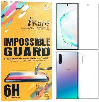 iKare Front and Back Screen Guard for Samsung Galaxy Note 10(Pack of 2)