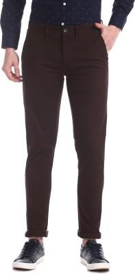 Arrow Slim Fit Men Red Trousers