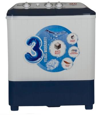 AKAI 7.5 kg Semi Automatic Top Load White, Blue(AKSW-7511BD)