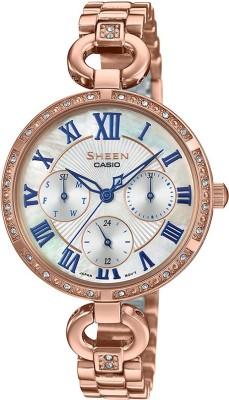 Casio SX265 Sheen ( SHE-3067PG-7AUDF ) Analog Watch - For Women
