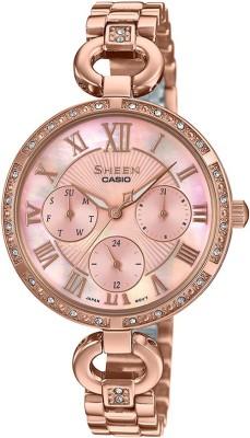 Casio SX264 Sheen ( SHE-3067PG-4AUDF ) Analog Watch - For Women