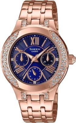Casio SX269 Sheen ( SHE-3809PG-2AUDF ) Analog Watch - For Women