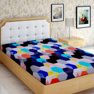IWS 144 TC Polyester Single Geometric Bedsheet(Pack of 1, Multicolor)