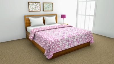 Sanvee Checkered Double Dohar(Cotton, Pink)