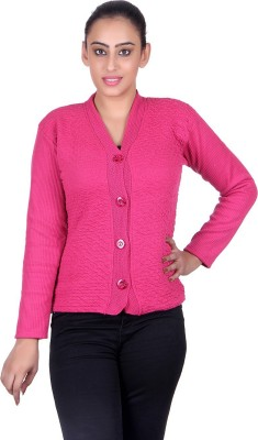 eWools Women Button Solid Cardigan