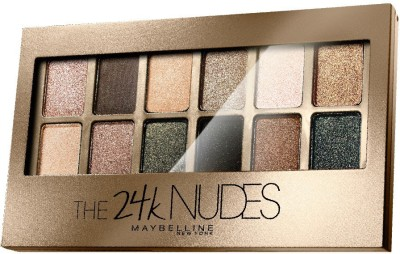 MAYBELLINE NEW YORK Eye Shadow Palette , The 24K Nudes Palette 9 g(Gold)
