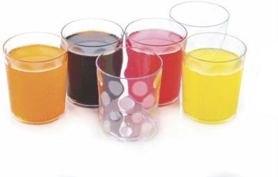 ONE8D Magic Unbreakable Curved Plastic Glass Set Of 6 Glass Set(Plastic, 300 ml, Clear, Pack of 6)
