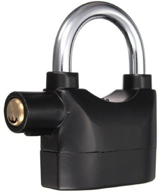 DRMS STORE Security Alarm Padlock Safety Lock(Black)