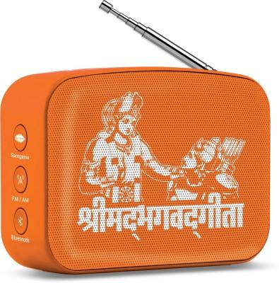 saregama Carvaan Mini Shrimad Bhagavad Gita / scm02 5 W Bluetooth Speaker(Devotional Orange, Stereo Channel)