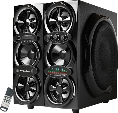 Depth Audio MEGA SOUND - HEAVY DUTY SERIES V-2 200 W Bluetooth Tower Speaker(Black Speaker Component, 4.1 Channel)