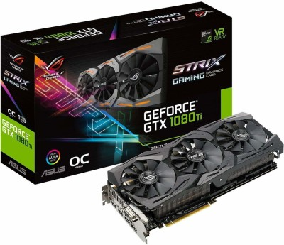 Asus AMD/ATI ROG-STRIX-GTX1080TI-O11G-GAMING GeForce 11GB OC Edition VR Ready 5K HD Gaming 11 GB GDDR5X Graphics Card
