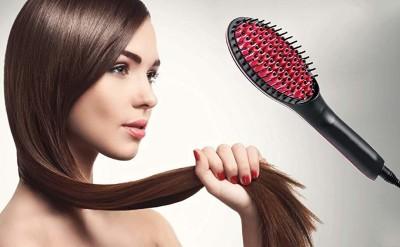 Buyerzone Simply Hair Brush Straightener Hair Styler Hair Straightener Brush(Multicolor)