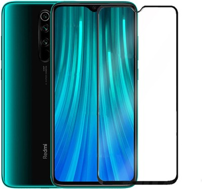 CEDO XPRO Edge To Edge Tempered Glass for Full Glue Coverage Screen Protector For Xiaomi Redmi Note 8 Pro (Black)(Pack of 1)