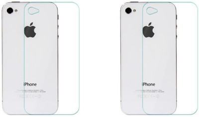 Digi Decor Impossible Screen Guard for Back Apple iphone 4s back(Pack of 2)