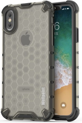 Wellpoint Back Cover for Apple iPhone X, Plain, Case, Cover(Black)