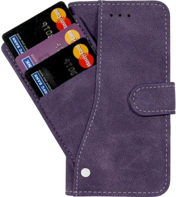 Cubix Wallet Case Cover for Samsung Galaxy Note 10(Purple, Cases with Holder)