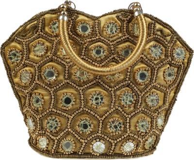 Fancy Walas Women Gold Hand-held Bag