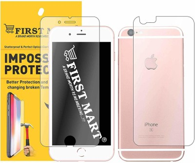 FIRST MART Front and Back Screen Guard for Apple iPhone 6 Plus, Apple iPhone 6s Plus(Pack of 1)