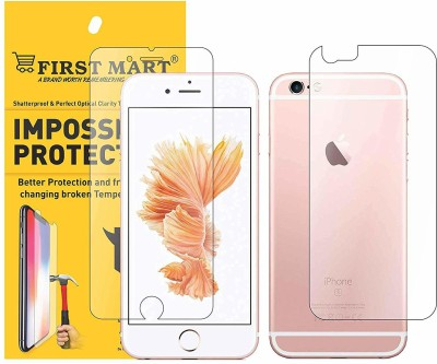 FIRST MART Front and Back Screen Guard for Apple iPhone 6, Apple iPhone 6s(Pack of 1)