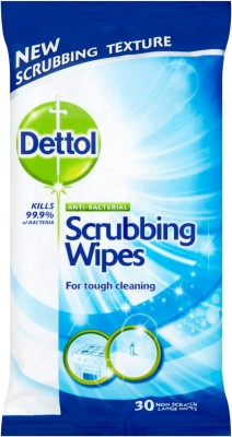 Dettol Scrubbing Wipes For Tough Cleaning 30's