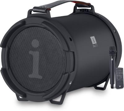 iBall Karaoke Barrel 15 W Bluetooth Party Speaker(Black, Stereo Channel)
