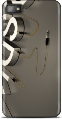 Flipkart SmartBuy Back Cover for Blackberry Z10(Grey, Gold, White)