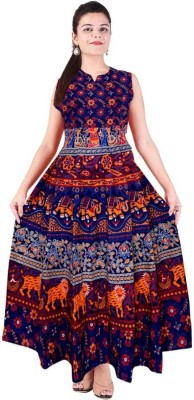 Frionkandy Cotton Printed Kurta Fabric Unstitched Frionkandy Women's Dress Materials