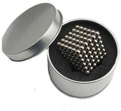 PSYCHE Silver Color Magnetic Balls (3mm 216 balls) Magnetic Toys 3D Puzzle Stress Relief Educational Toys(216 Pieces)