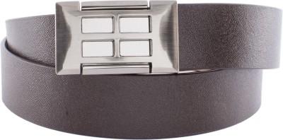 U+N Men   Women Formal Brown Genuine Leather Belt