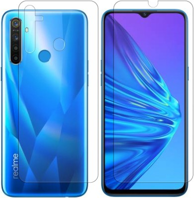 Bonqo Front and Back Screen Guard for Realme 5, Realme 5s(Pack of 2)