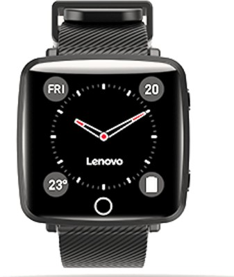 Lenovo Carme Smartwatch  (Black Strap, Regular)