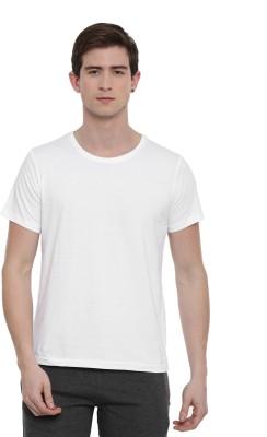 SayItLoud Solid Men Round Neck White T Shirt